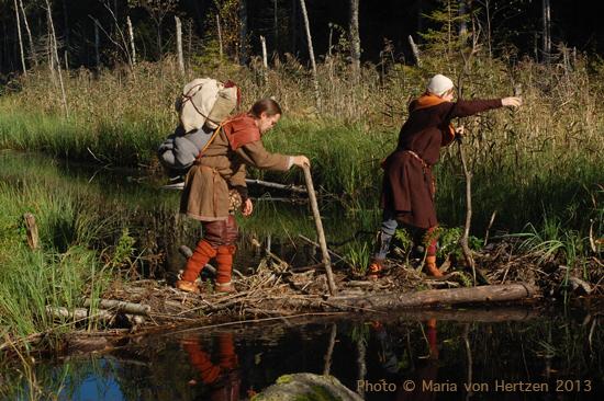 Syyskuu 2013, Evon retkeilyalue: majavapatoja ja yöpyminen laavulla metsästäjien kanssa.