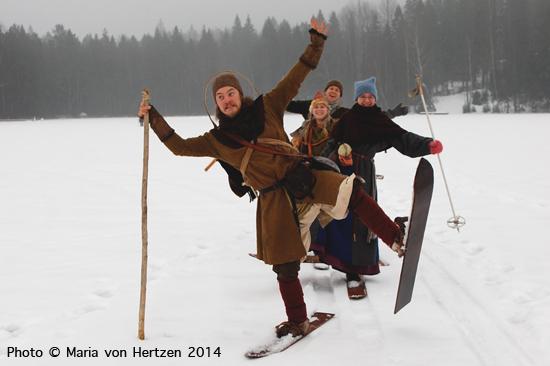 Helmikuu 2014, Nuuksion kansallispuisto: hiihto rankaisevissa räntäolosuhteissa.