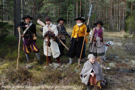 Huhtikuu 2015, Kemiönsaari: pitkä 1600-lukuteemainen vaellus rantoja pitkin, telttayöpymisellä.